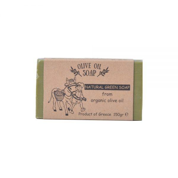 Natural green olive oil soap