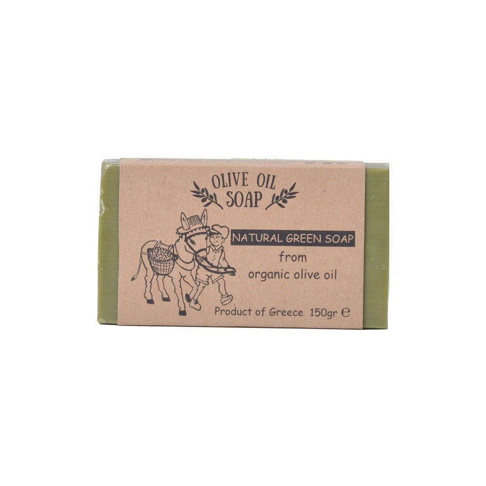 Natural green olive oil soap