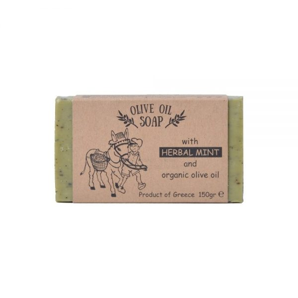 Olive oil soap with herbal mint