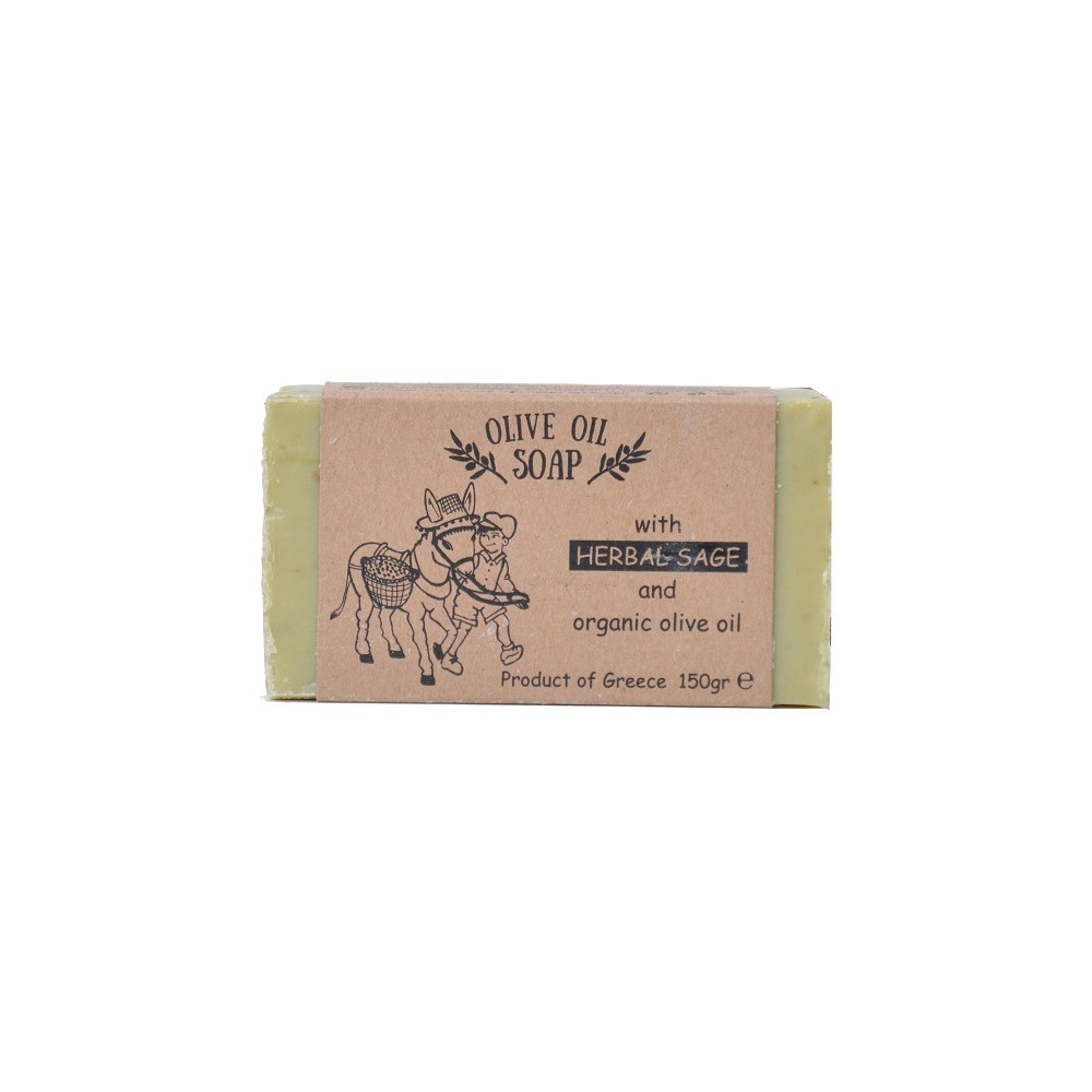 Olive oil soap with herbal sage